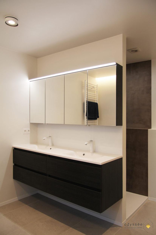 Rénovation salle de bain parents - Architecture d'intérieur Odyssée Studio