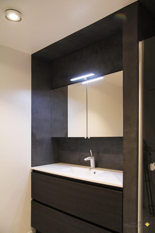Rénovation salle de bain enfants - Architecture d'intérieur Odyssée Studio