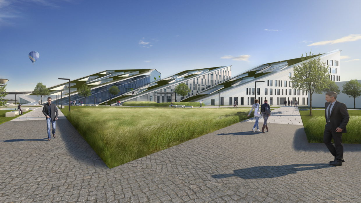 Projet Corda Campus par ELD architects, simulation 3D